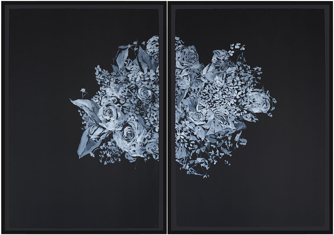 watercolor on paper (diptych)48.5 x 68in. overall 2008