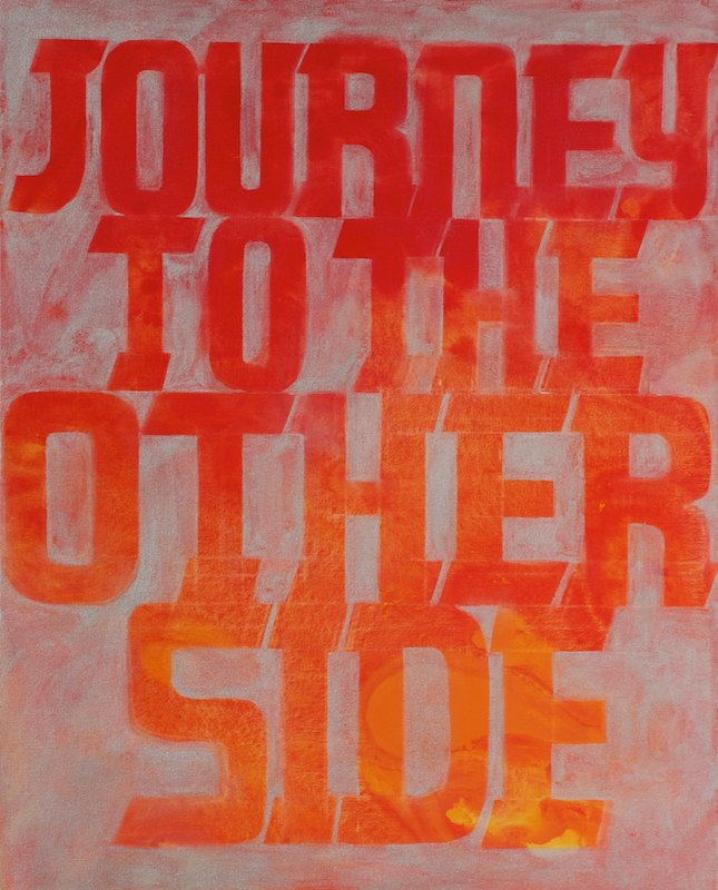 JOURNEY TO THE OTHER SIDEacrylic on canvas over board 52 x 42 cm., 2011