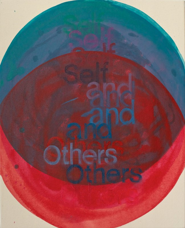 SELF AND OTHERSoil and acrylic on canvas over board52 x 42 cm., 2011