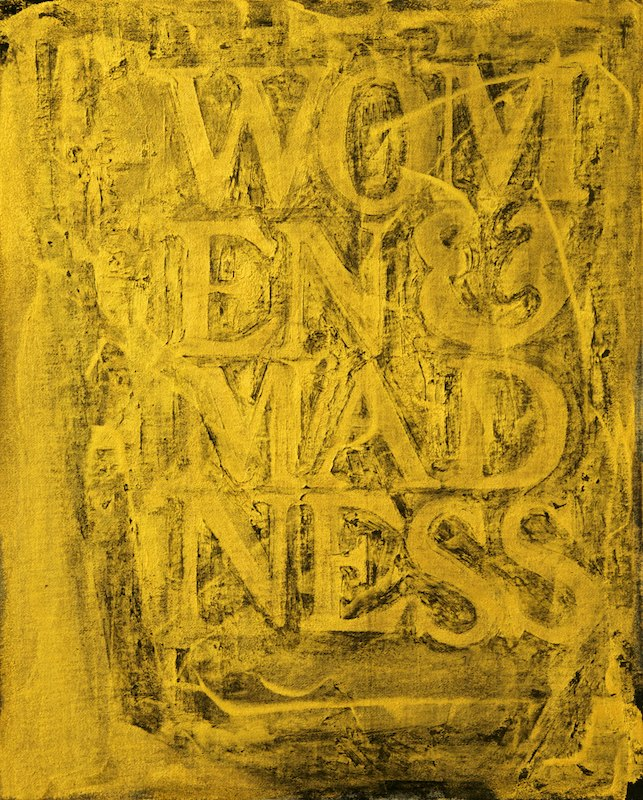 WOMEN AND MADNESS #1oil, acrylic, charcoal on canvas over board 52 x 42 cm., 2011