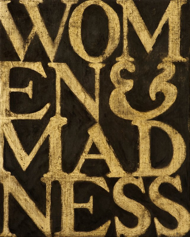 WOMEN AND MADNESS #2oil, acrylic, charcoal on canvas over board 52 x 42 cm., 2011