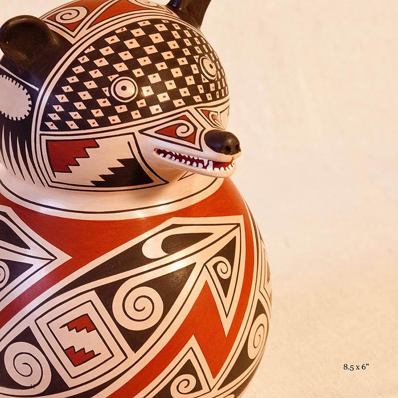{quote}Looking at their pottery, we feel their uncompromising loyalty to channeling the Paquime spirits and maintaining the ancient Casas Grandes pottery style alive.{quote}