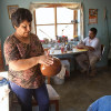 Veronica Silveira and Sabino Villalba in their pottery studio in Mata Ortiz, Chihuahua, Mexico.