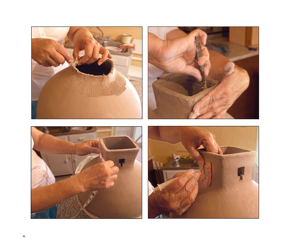 Graciela Gallegos making a museum quality pot