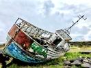 Fishing trawler wreck, Grindavíkurbaer, Reykjanes