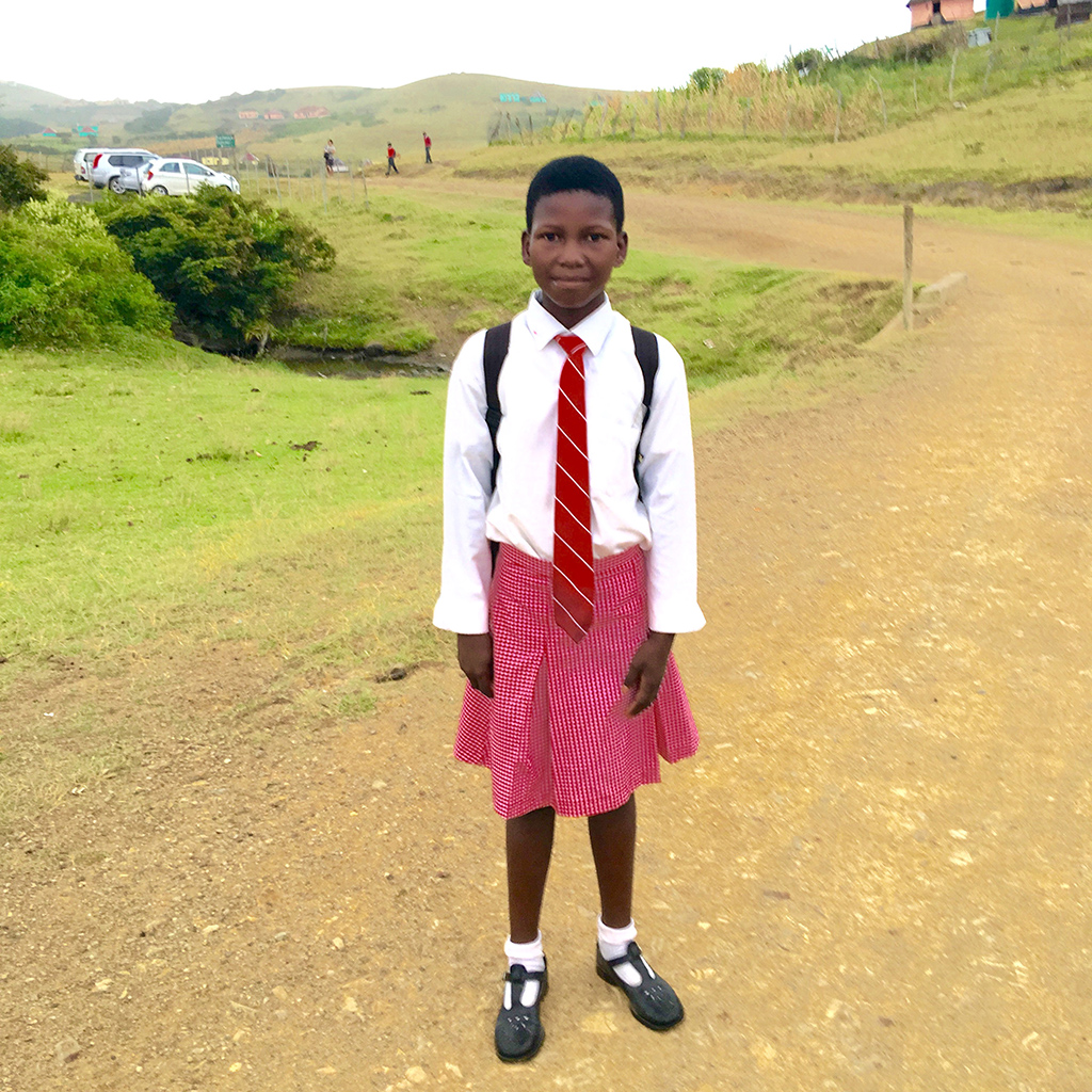 Schoolgirl in Bulungula, Western Cape,South Africa