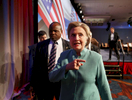 Democratic U.S. presidential candidate Hillary Clinton exits after speaking at the U.S. Conference of Mayors 84th Annual Meeting in Indianapolis, Indiana United States, June 26, 2016.    REUTERS/Chris Bergin