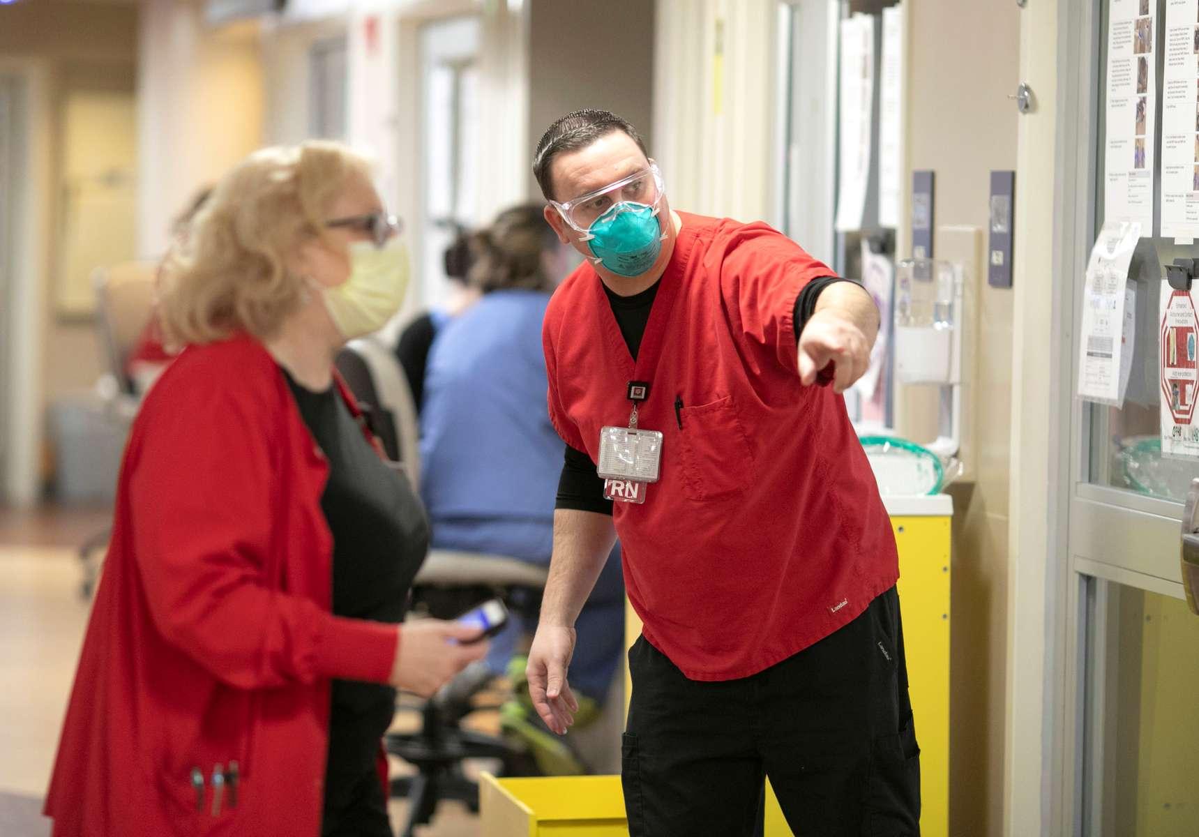 March 30, 2020. COVID Coverage, IU Health Methodist Hospital Intensive Care unit.