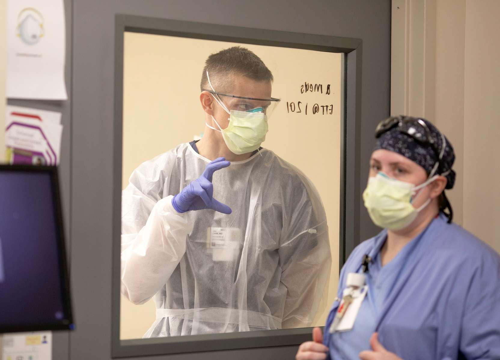 April 13, 2020. COVID Coverage. Emergency Department at IU Health Methodist Hospital Monday April 13, 2020.