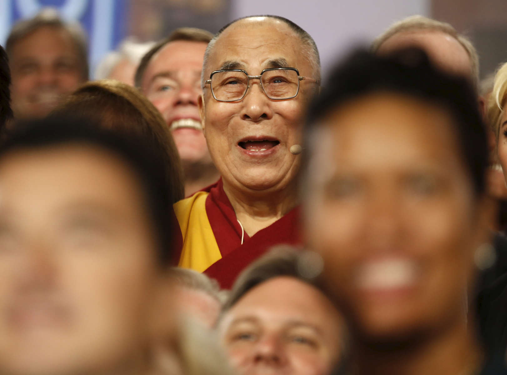 The Dalai Lama during The United States Conference of Mayors in Indianapolis, Indiana Sunday June 26, 2016.