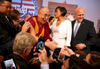 The Dalai Lama meets mayors from around the country during The United States Conference of Mayors in Indianapolis, Indiana Sunday June 26, 2016.