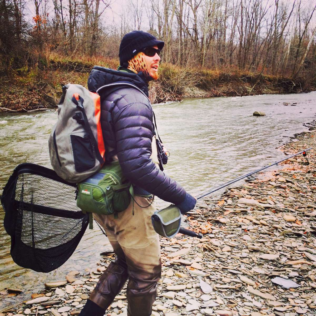 Fly fishing for steelhead trout.
