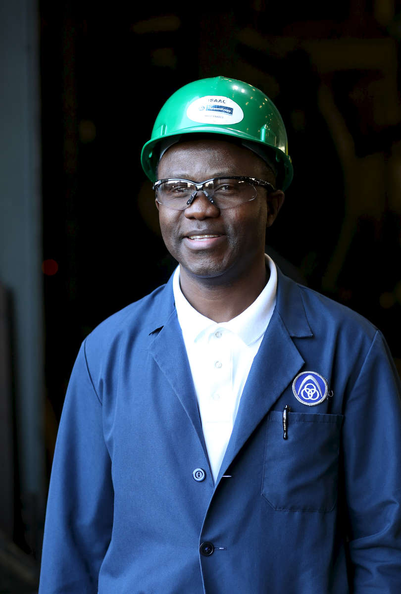 Lead Engineer Isaac Tshiofwe at the plant in Danville, Illinois.