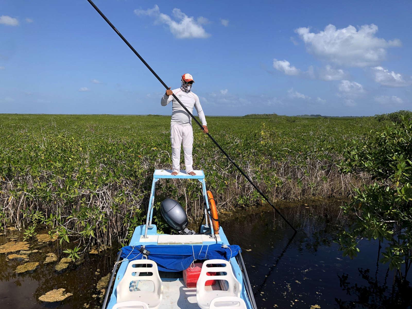 Tulum Mexico, MX Flats fishing