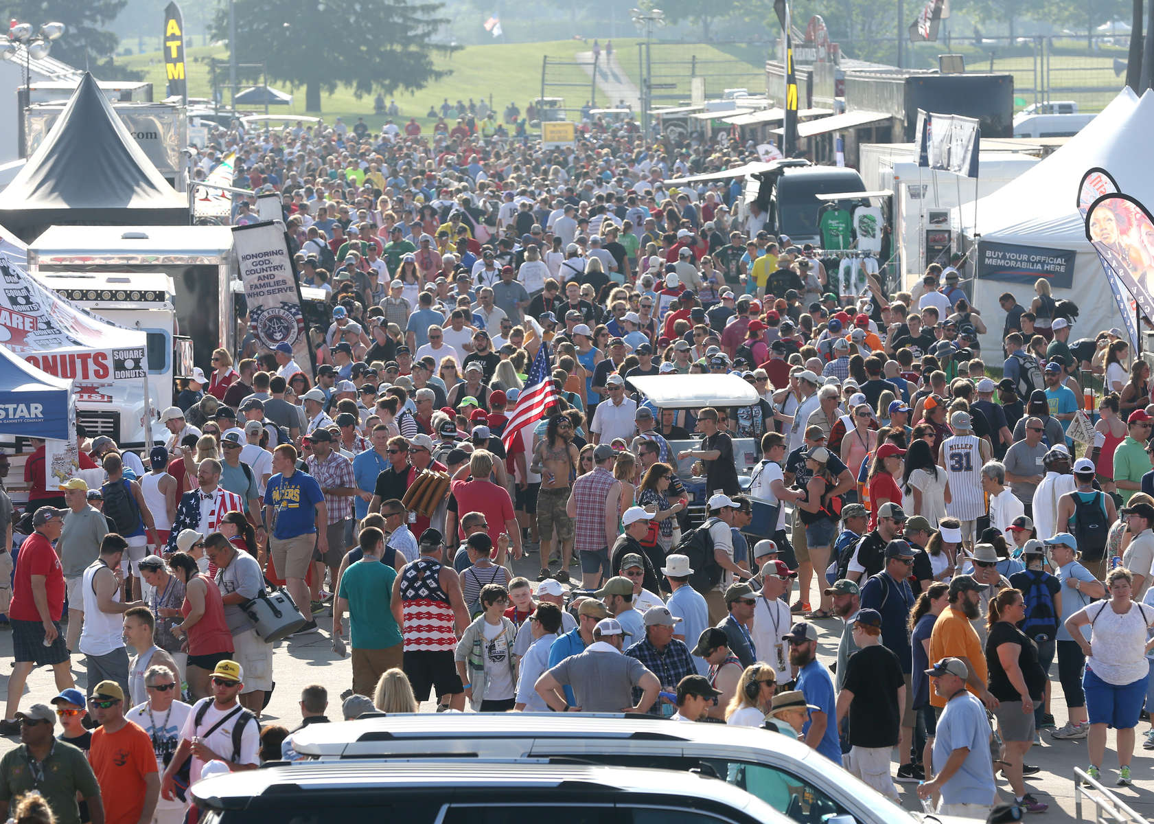 Fans make their way in to the 100th running of the Indianapolis 500 May 29, 2016.