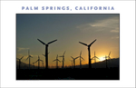 Alternative Energy in Big Way: Digital wall art of California and its gigantic wind farm in Santa Barbara, CA, photos by George Delany, made available at Gallery Delany, on-line.