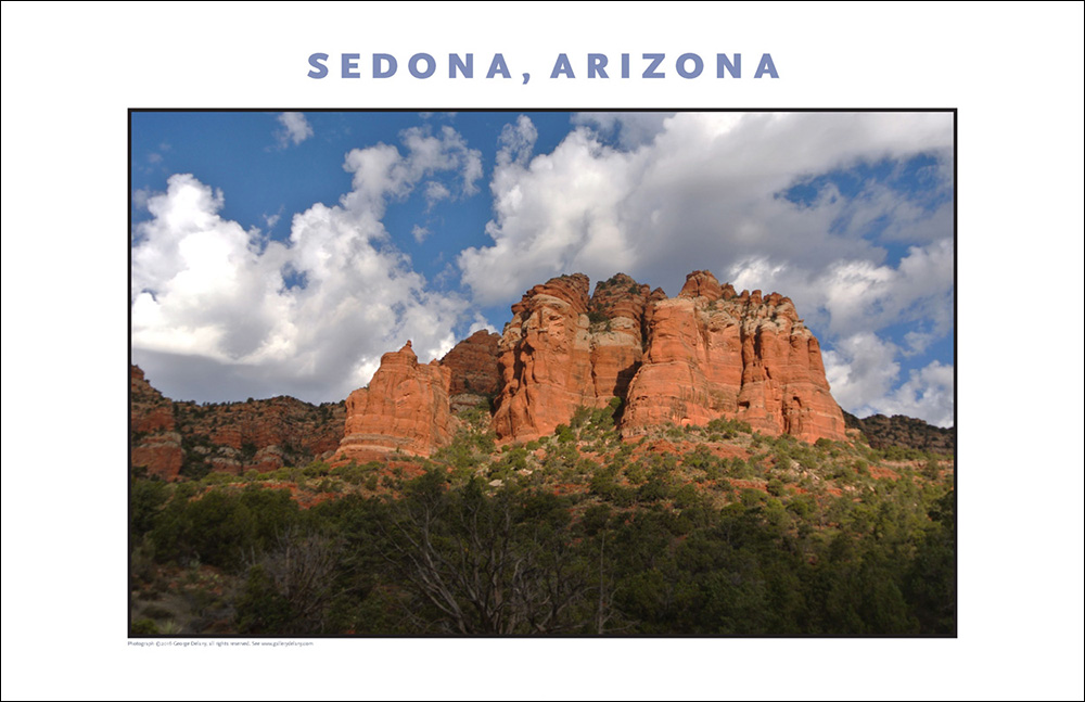 Digital Decor On-Demand: One of a series of gorgeous digital photo prints from Gallery Delany featuring photo images-on-demand taken on location in Arizona, this one of Sedona.