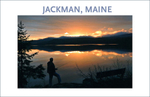 Travel Poster: One of a series of wonderful images taken in Jackman, Maine, spring 2014 just after the ice went out, photo by George Delany.