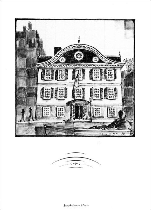 George Delany, original drawing, John Brown House, graphite on paper.