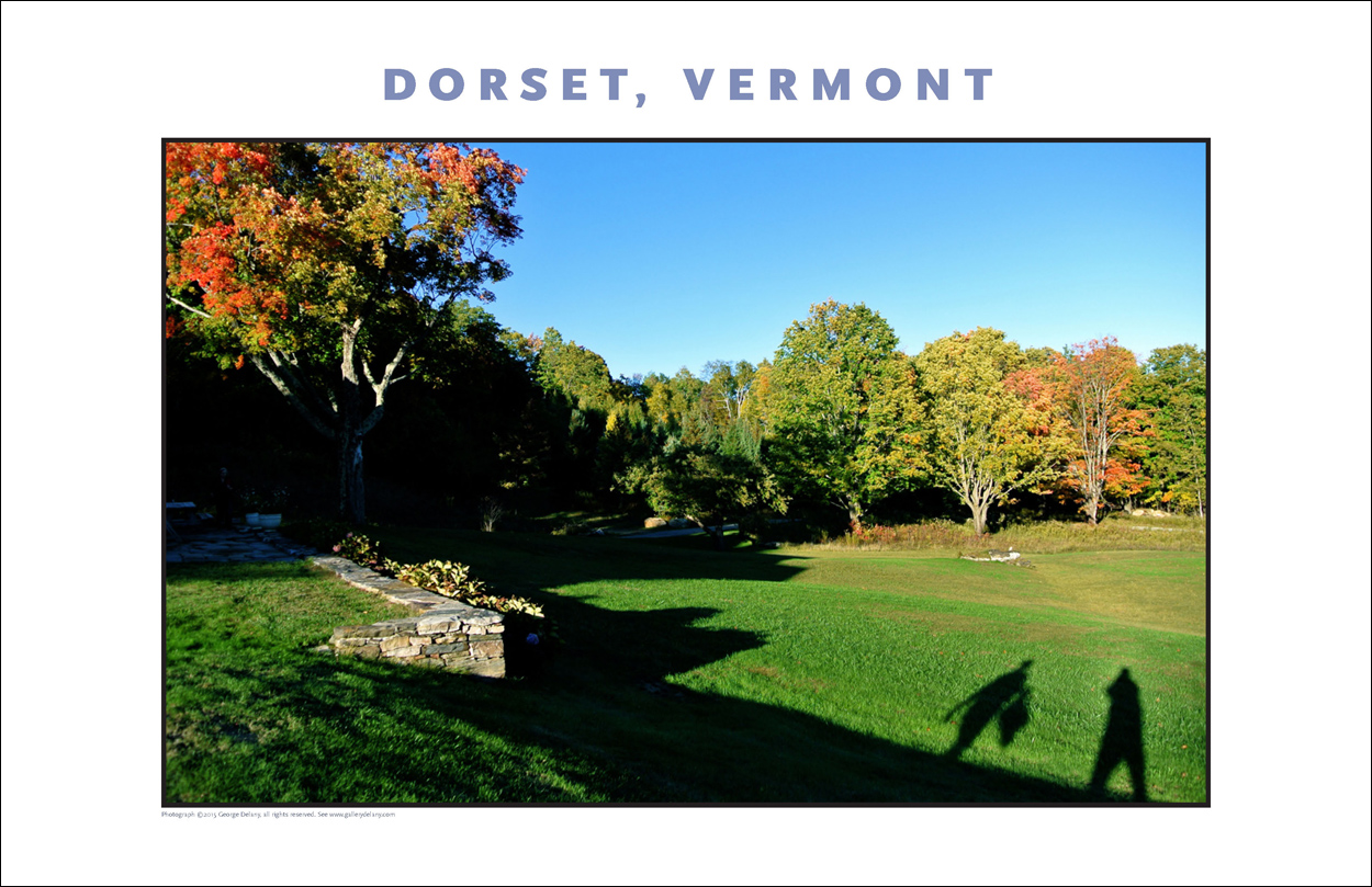 Lovely image of changing foliage in the late afternoon at Dorset, Vermont, photo by George Delany