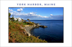 Great view looking east along the waterfront walkway in York Harbor, Maine, view to the east, great new #walldecor from Gallery Delany