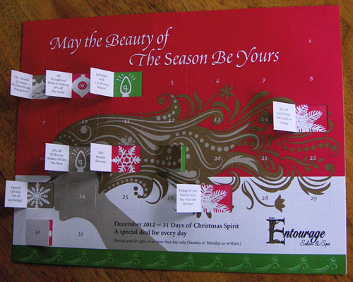 An inventive promotion at Christmas for a Virginia-based client. Designed by Sandy Delany.