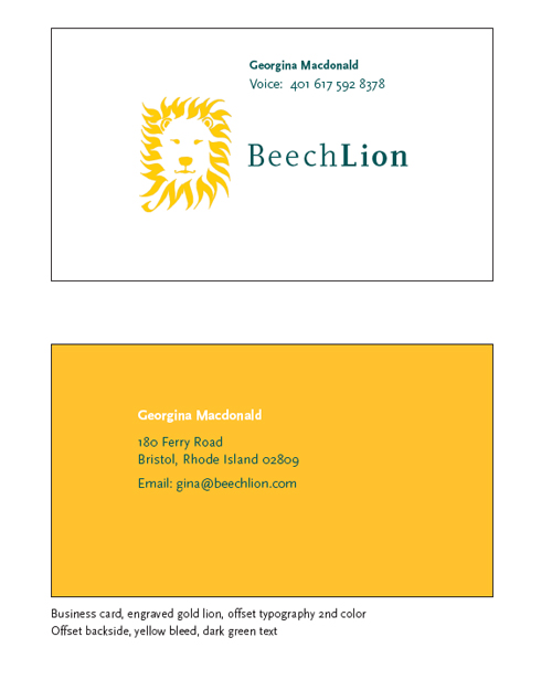 An example of one logo application to the collection of key documents for the new BeechLion.