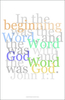 From John 1:1, another in the series of typographic plates from the New Testament available at Gallery Delany.