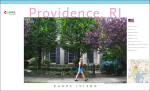 One of a series of promotional posters about Providence, RI under the Croooz® brand, created by George Delany