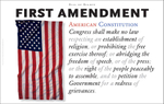 American History on Display: First Amendment as Wall Decor: Another interpretation of the First Amendment to the Bill of Rights, American Constitution, as #wallart created for Gallery Delany.