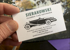 Essential Business Card: The first element in the development of a graphic identity for a new, young company specializing in antique auto investment.