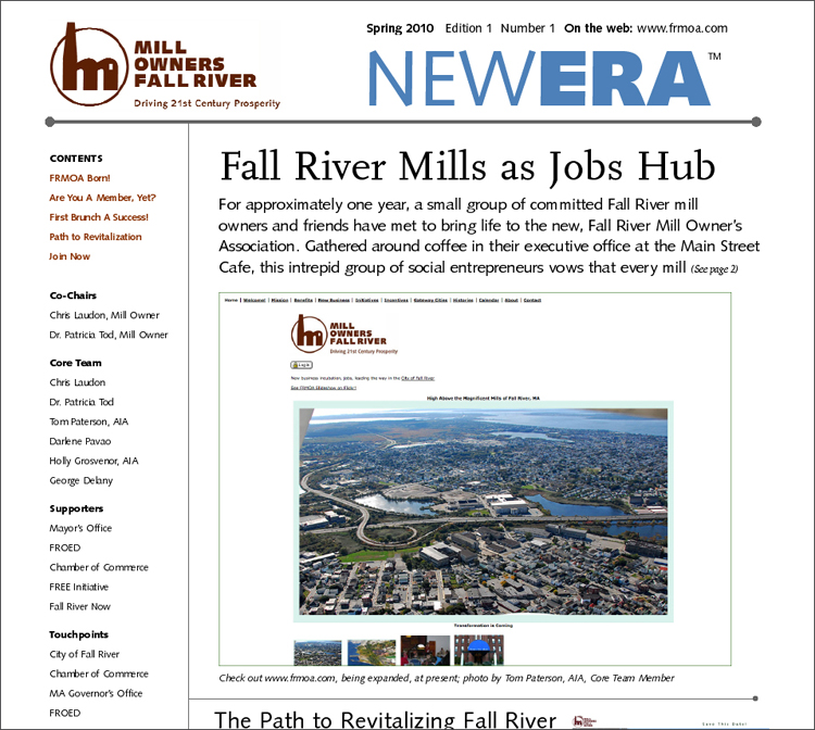 A new newsletter for the Mill Owners' Association, designed and produced by aaaForay's George Delany.