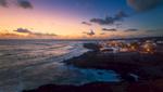El Golfo at sunset. Lanzarote
