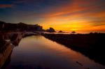 Sunset at Arnía beach, Cantabria
