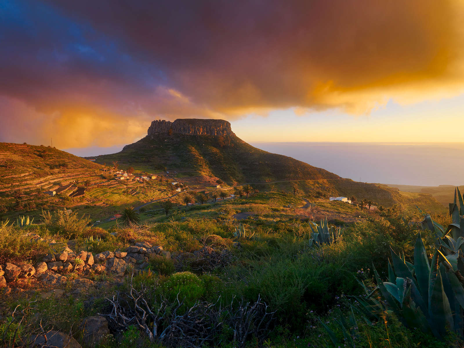 La Fortaleza at sunset, La Gomera island