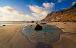 Low tide at Famara Beach, Lanzarote