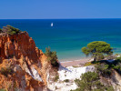Pine Cliff beach at Sheraton Algarve, Portugal