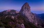 Roque de Agando at sunset, La Gomera