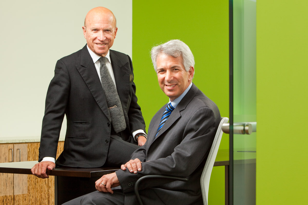 (L to R) EDF Chairman of the Board Carl Ferenbach and EDF President Fred Krupp