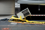 Old Slip Garage, lower Manhattan, the morning after Hurricane Sandy passes through NYC, October 30, 2012.
