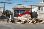 Garbage continues to pile up outside of homes along Cross Bay Boulevard in Broad Channel, Queens six days after Hurricane Sandy. November 4, 2012.