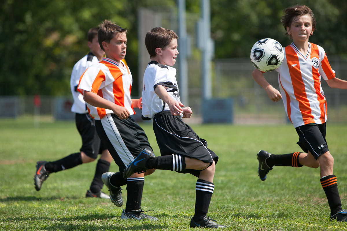 Joey Martino playing in a soccer tournament on September 6, 2009, CT.