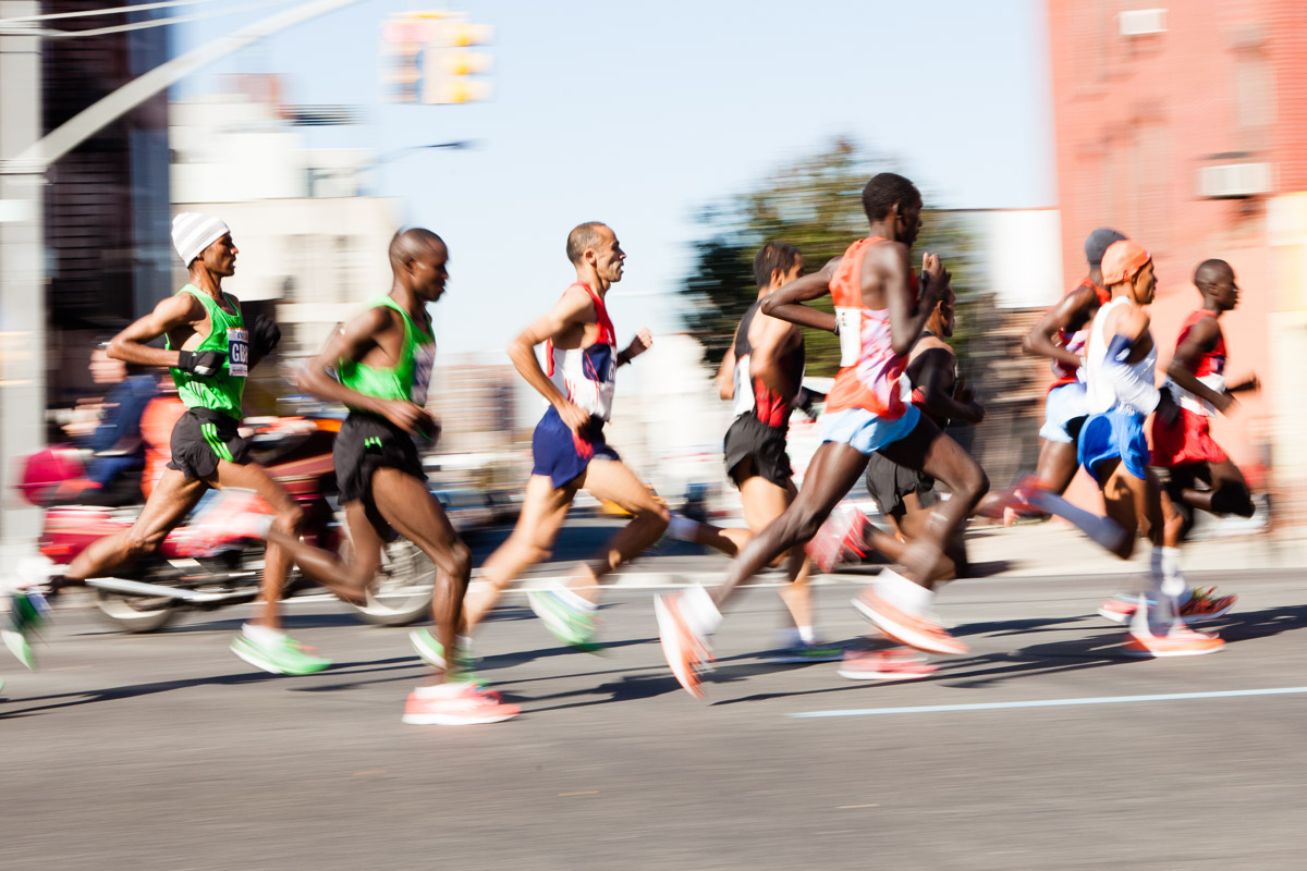 Runners on 4th Ave, Brooklyn, during the 2011 New York Marathon.
