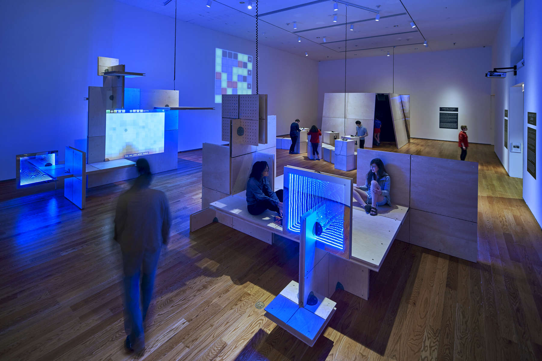 IKD was responsible for the installation and exhibition design of the first ever museum retrospective of a single video game designer. The exhibition, The Game Worlds of Jason Rohrer at the Davis Museum at Wellesley College, is a survey of the independent game designer Jason Rohrer work which has formed part of the Museum of Modern Art's initial video game acquisition.The central theme examines where video games are positioned within our daily culture and questions whether or not video games are art. The space is designed around four large installations that both create immersive environments to enhance game-play and form an interpretation of the games themselves. It also challenges the traditional notion that exhibition design should sit quietly behind the exhibited work. While the design is centered on creating a focus on exhibited works The Games Worlds of Jason Rohrer explores new possibilities in exhibition design through the immersive installation environments. image by Ben Kou