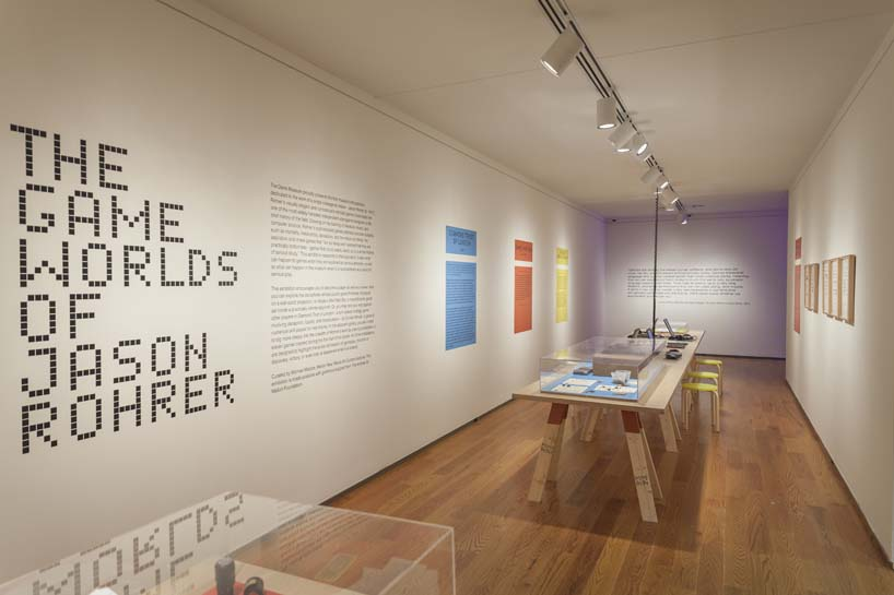 IKD was responsible for the installation and exhibition design of the first ever museum retrospective of a single video game designer. The exhibition, The Game Worlds of Jason Rohrer at the Davis Museum at Wellesley College, is a survey of the independent game designer Jason Rohrer work which has formed part of the Museum of Modern Art's initial video game acquisition.The central theme examines where video games are positioned within our daily culture and questions whether or not video games are art. The space is designed around four large installations that both create immersive environments to enhance game-play and form an interpretation of the games themselves. It also challenges the traditional notion that exhibition design should sit quietly behind the exhibited work. While the design is centered on creating a focus on exhibited works The Games Worlds of Jason Rohrer explores new possibilities in exhibition design through the immersive installation environments. image by Ben KouTo see a panoramic click here