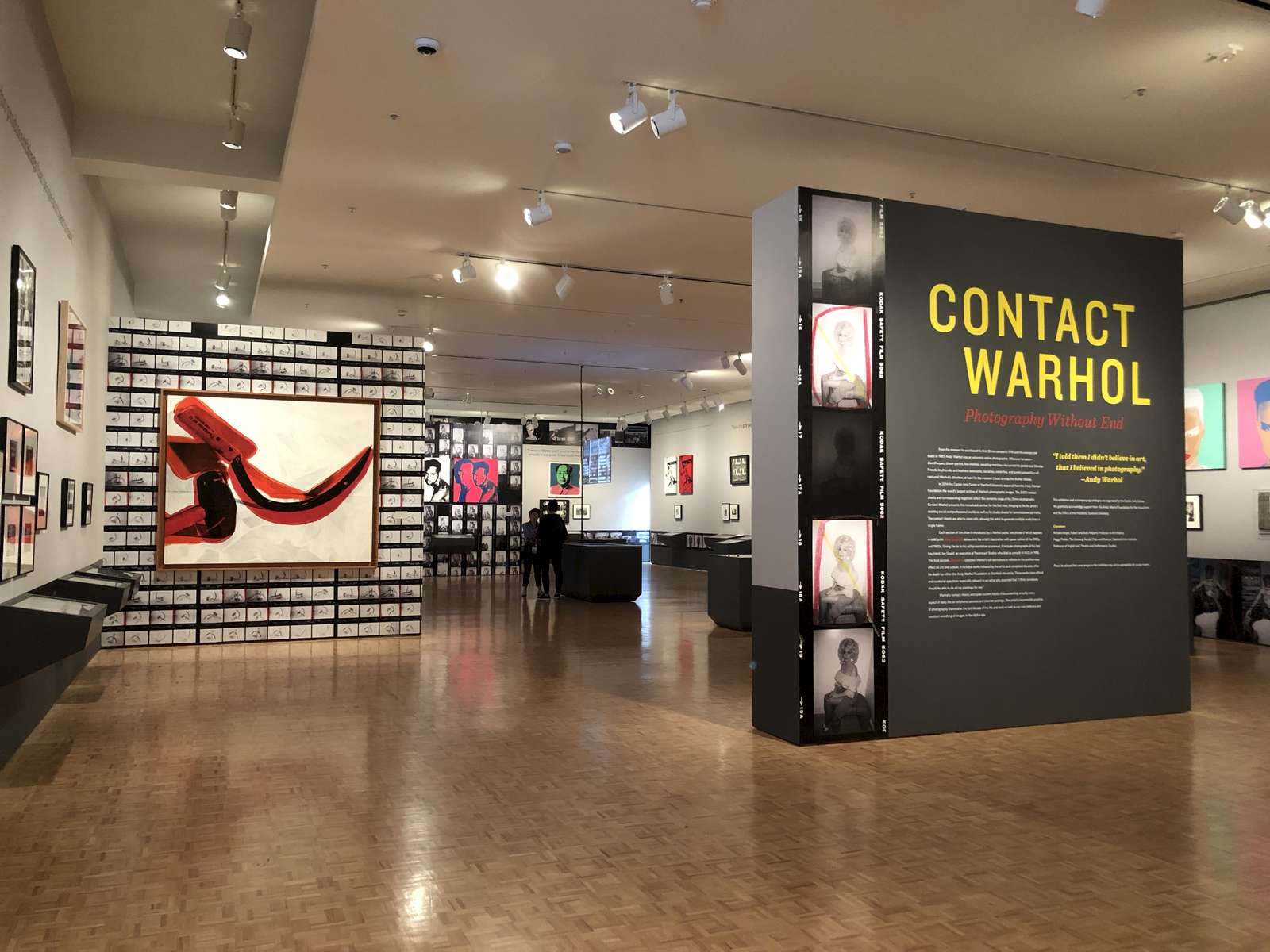 Contact Warhol: Photography Without End IKD oversaw all architectural and exhibition design elements including movable partitions, art display apparatus, layout of artwork, and graphic design for the project. IKD's holistic, integrative approach to gallery design enabled a seamless visitor experience that considered issues of visitor flow, accessibility, spatial composition, and visual organization as well as the integration of several projected videos and an interactive table. The exhibition drew from a trove of over 3,600 original contact sheets revealing previously unseen photographic exposures for the first time, depicting intimate images of the artist's daily life documenting everything from the mundane to his interaction with celebrities.
