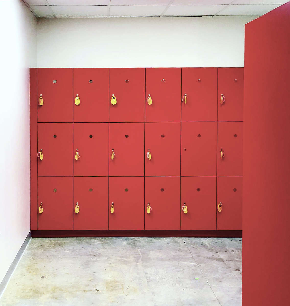 IKD was hired to design a new public self service locker room for overflow storage in the basement level of the Isabella Stewart Gardner Museum
