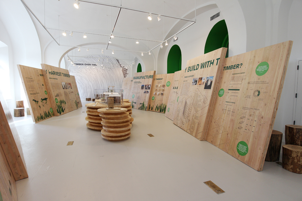 IKD has been hired to curate and design the Timber CIty Exhibition at the National Building Museum in Washington, DC Now open.