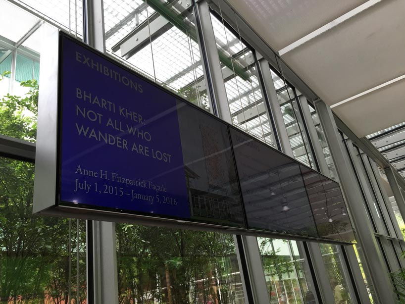 IKD has designed the digital media signage at the Gardner Museum main lobby