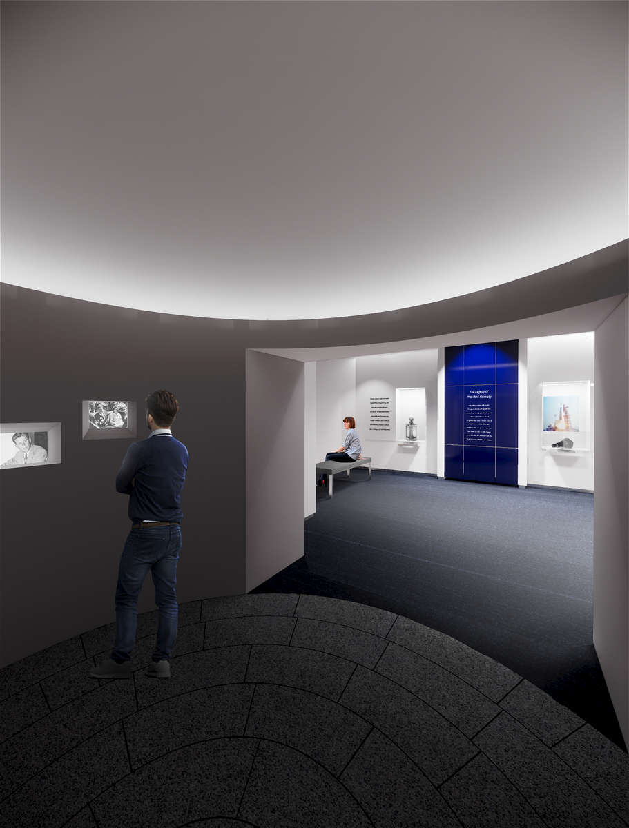 IKD is currently acting as the architect for the design and renovation of the library's Legacy Gallery, which highlights domestic and international accomplishments that have been inspired by the legacy of JFK's life and administration. IKD is collaborating with the library's  in-house exhibition designer, media designer, and graphic designer to completely re-envision the space, including adding multimedia interactive elements, updating lighting and finishes, and negotiating existing structural and HVAC conditions to incorporate new, more functional casework for better display of artifacts. The project will completed in the winter of 2018, and is funded by both the Library and the Library Foundation.